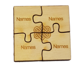 Personalised Jigsaw Coasters  : Friendship & Family Designs