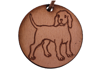 Christmas Tree Decoration Dog. Vintage shabby chic  - Labrador / Hound / Puppy. -  - 1