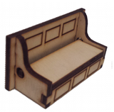 Bench Seat Opening Storage :  Dolls House Furniture / Fairy Door Accessories - Designed by Soriska Ltd - 3