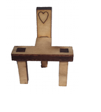 Pixie Stool and Fairy Chair Set Tiny : Fairy Door - Fairies Garden Accessory - Designed by Soriska Ltd - 3