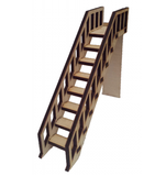 Stairs. Steps Fairy, Elf, Hobbit Door Dolls House Wooden Accessory - Designed by Soriska Ltd - 1