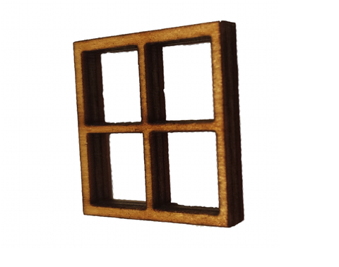 Large Window Square 15 x 15 CM : Fairy Garden Accessories / Wooden Accessory Dolls House - Designed by Soriska Ltd - 1