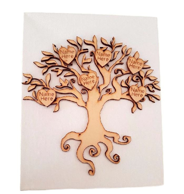 Personalised Picture Family Tree Canvas Art  Custom Design