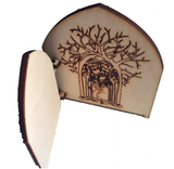 Fairy Door Opening Forest Theme Engraved Woodland and hidden fairy behind trees - Designed by Soriska Ltd - 3