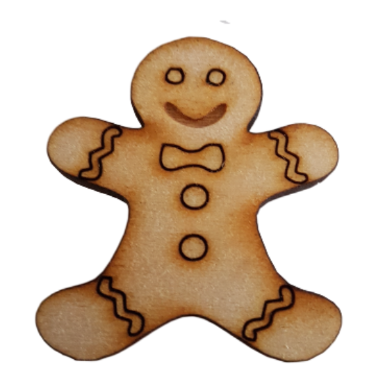 Gingerbread Man Embellishment for Craft Projects