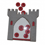 Reward Chart - Grey Castle with Red Coins Reward System for Children - Designed by Soriska Ltd - 2