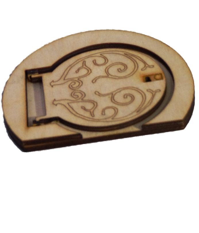 Opening Hobbit Elf Door Wooden with engraving on opening. 3D Fairy Door Magical -  - 1