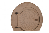 Extra Large Hobbit Elf Pixie Door that Opens- Large Wooden Fairy Door Engraving Options - Designed by Soriska Ltd - 2