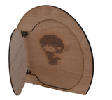 Extra Large Hobbit Elf Pixie Door that Opens- Large Wooden Fairy Door Engraving Options - Designed by Soriska Ltd - 7