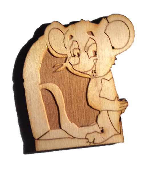 Fairy Door - Mouse Hole Door For Skirting Board - Designed by Soriska Ltd