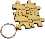 Personalised  Keyring for Friends and Family Multiple Key Rings Attach Together