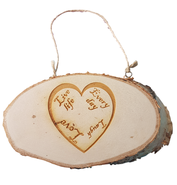 Personalised Log Slice Hanging Plaque