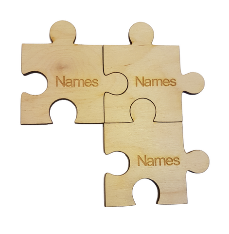 Personalised Coasters and Table Mats - Customise your Jigsaw Piece and  slot together