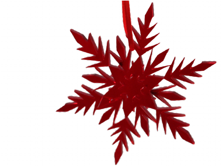 Red  Snowflake Christmas Decoration Frozen inspired - Acrylic -