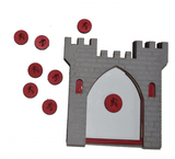 Reward Chart - Grey Castle with Red Coins Reward System for Children - Designed by Soriska Ltd - 1
