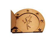 Fairy Door Round Opening Door with Star Surround and engraved Fairy - Designed by Soriska Ltd - 2