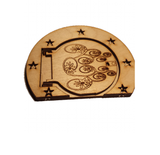 Fairy Door Round Opening Door with Star Surround and engraved Fairy - Designed by Soriska Ltd - 3