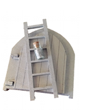 Fairy Door Glimmering Shimering Silver Set with Ladder and Fairy Dust, opening - Designed by Soriska Ltd - 2