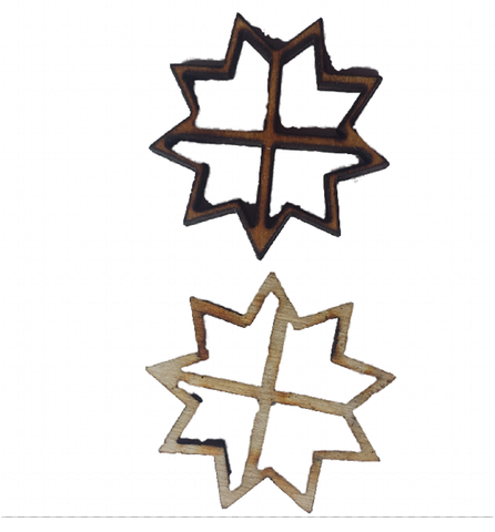 Miniature Windows Snowflake Shape : Fairy Garden Accessories / Wooden Accessory Dolls House - Designed by Soriska Ltd - 1