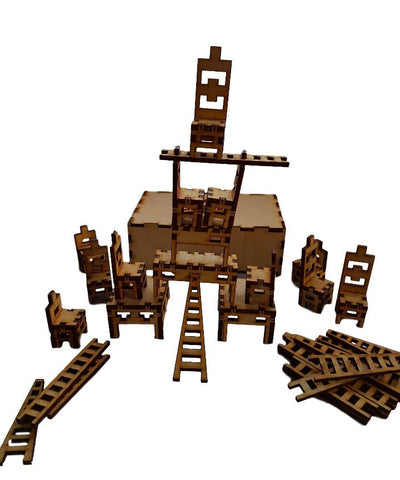 Stackrel - The Game of Stacking, Creating, Sculpting, Toppling  Chairs, Tables and Ladders