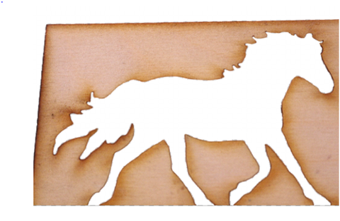 HORSE Craft Project Equestrian Design Art  - DRAW, DECORATE VARNISH MAKE. -  - 1