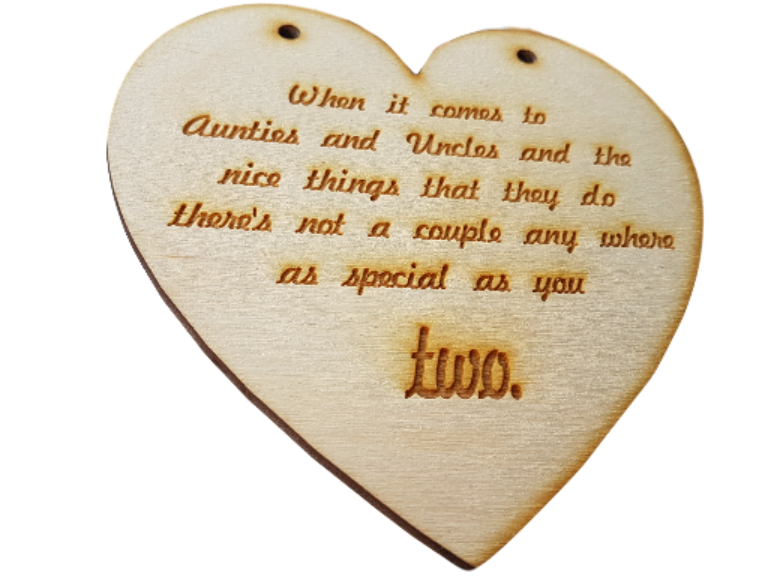 Wooden Wedding Gift Heart Engraved - can be personalised