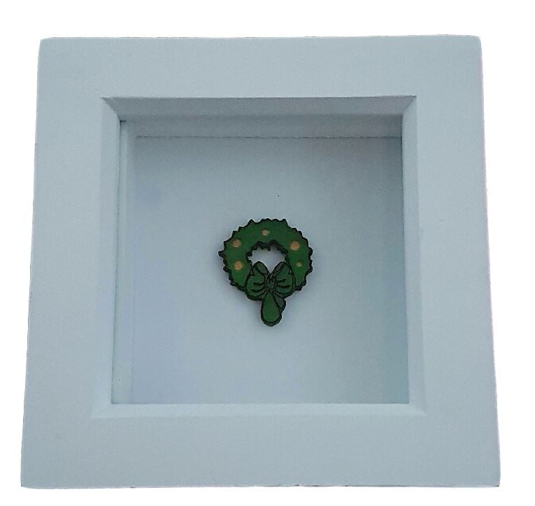 Christmas Wreath in a Picture Frame - Christmas Decoration