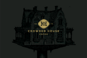 Crowded House Coffee logo with house