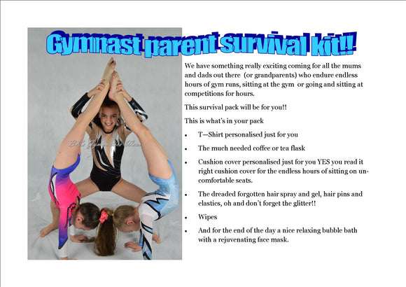 Gymnastics mum or dad survival kit T-shirt