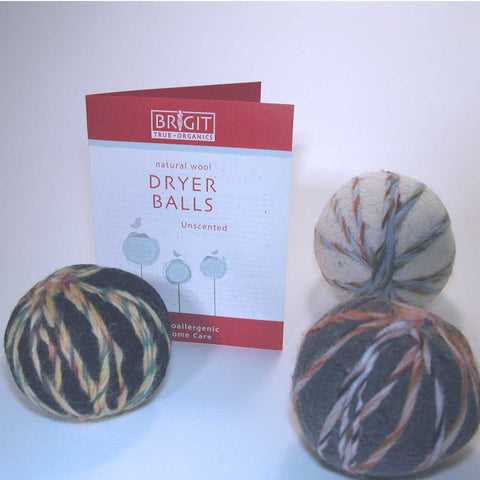 Dryer Balls, set of 3 in assorted colors