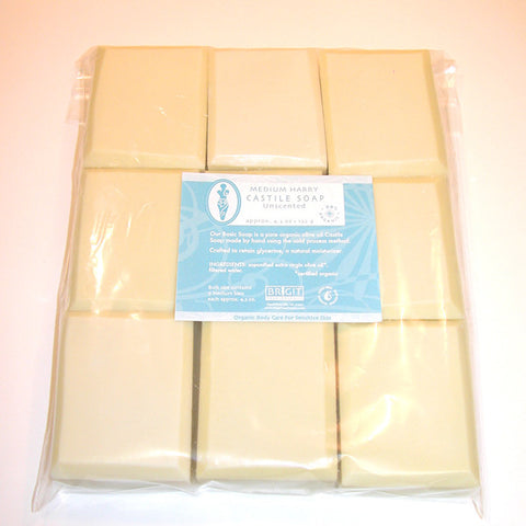 "NOW: NOP certified, BULK Bar Soap Unscented Medium ""Harry"" (9 bars)"