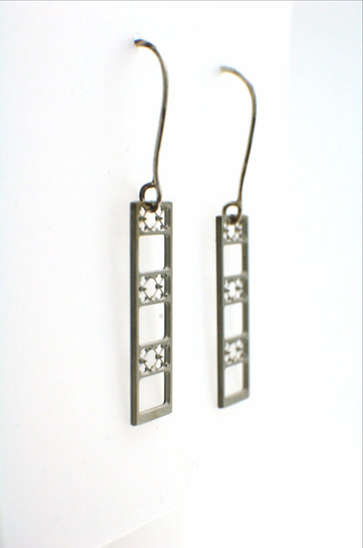 Suspension Bridge Earrings - Stainless Steel