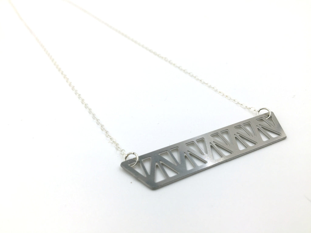 A Warren Truss Bridge Necklace