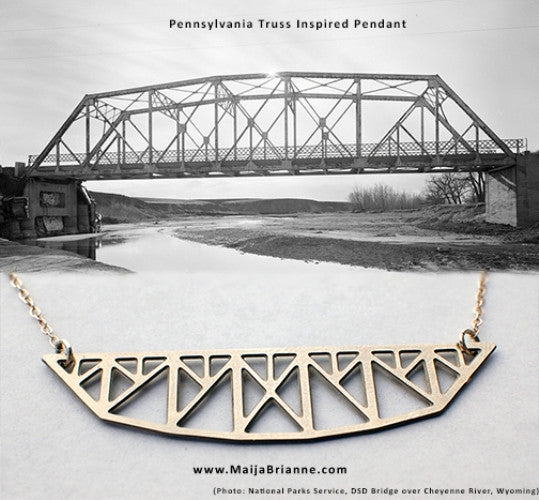 Pennsylvania Truss Bridge Necklace