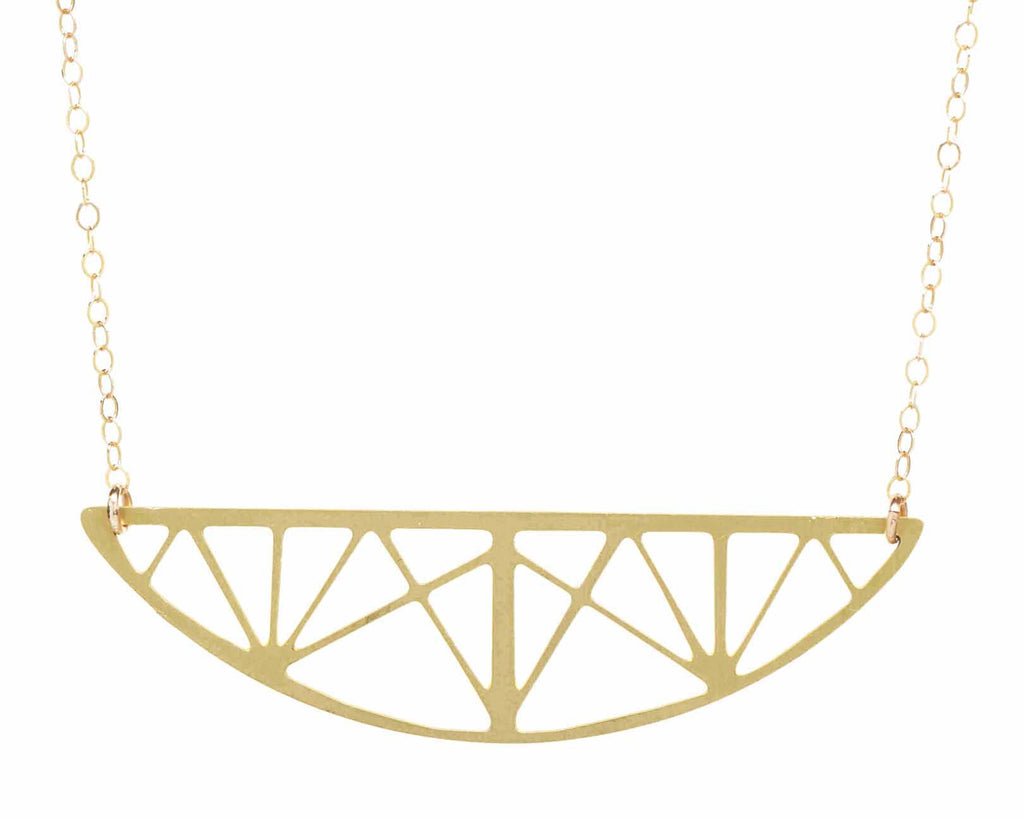 Bowstring Truss Bridge Necklace
