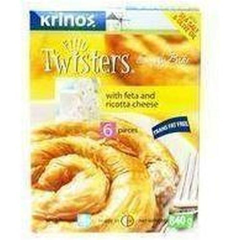 Krinos Fillo Twisters with Feta & Ricotta Cheese 6 pieces 840g-Frozen Pastries (Ethnic)-Krinos-Swiftyz
