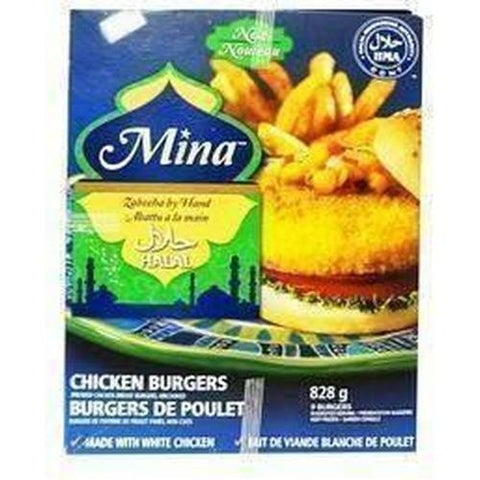 Mina Chicken Burgers 9 pieces 828g-Frozen Meat (Ethnic)-Mina-Swiftyz