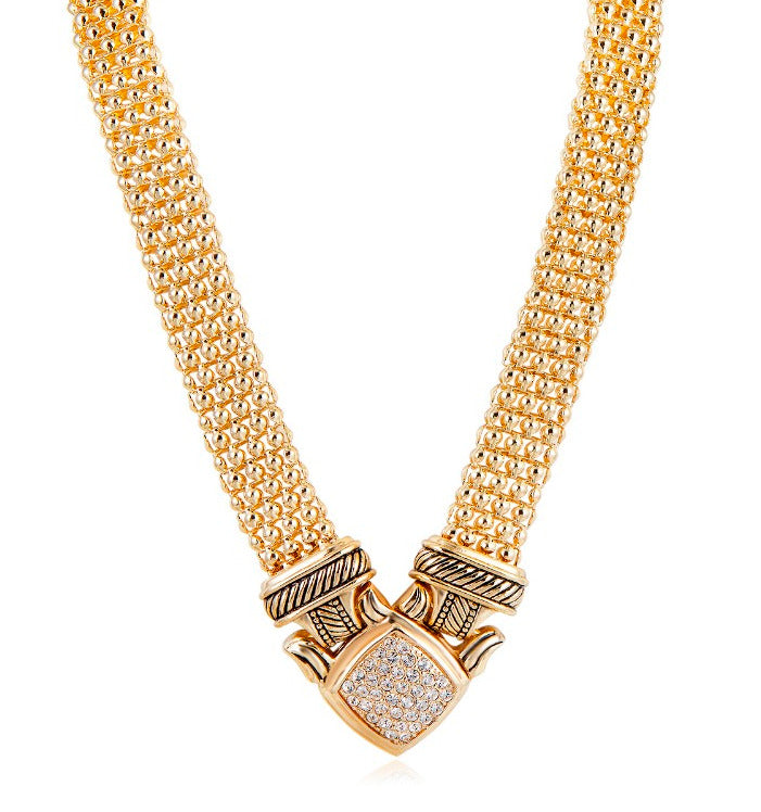 New Collection! Pave Rhinestone Popcorn Chain Short Necklace – 50 ...