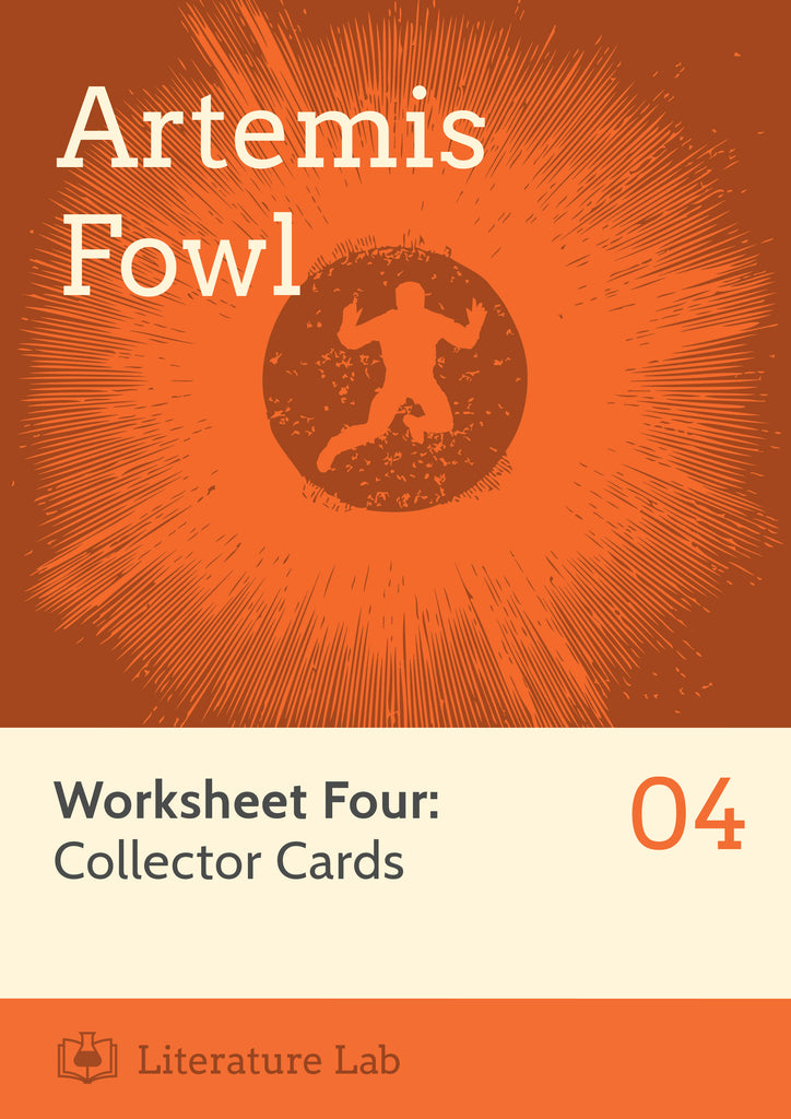 Artemis Fowl Worksheet - Collector Cards