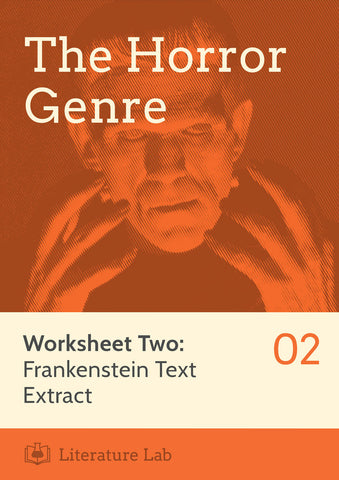 Horror Worksheet - Frankenstein Text Extract