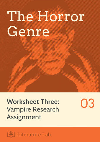 Horror Worksheet: Vampire Research Assignment