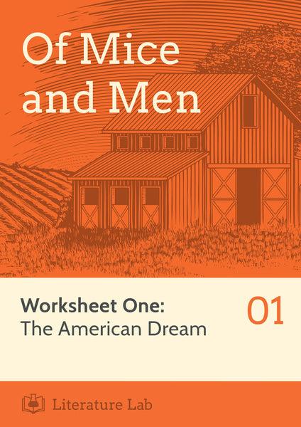 Of Mice and Men Worksheet - The American Dream