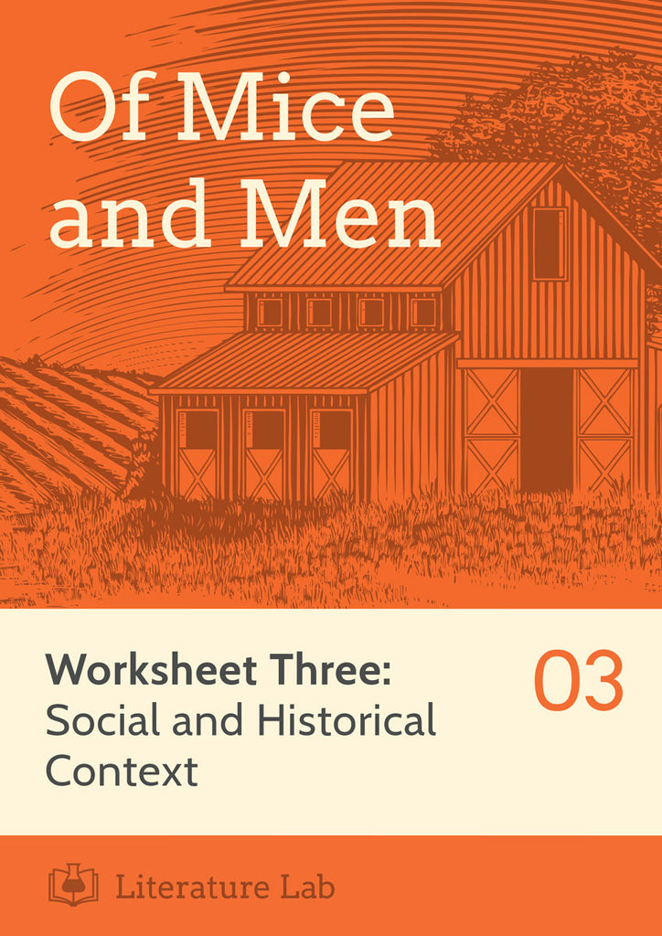 Of Mice and Men Worksheet - Social and Historical Context