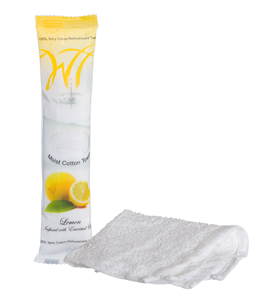 100% cotton oshibori towels - Lemon