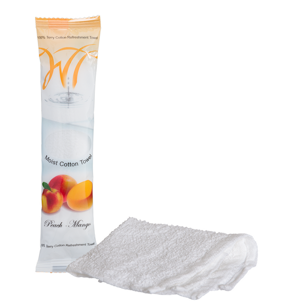 100% cotton oshibori towels - Peach - Mango