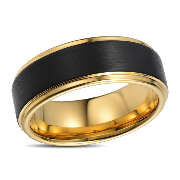 Black And Gold Wedding Ring For Him