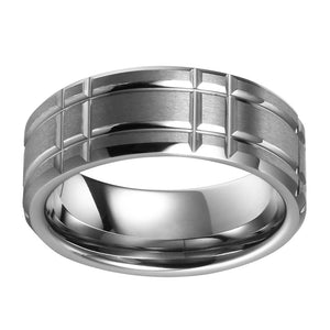 Mens Tungsten Wedding Ring Anniversary Promise Ring for Men