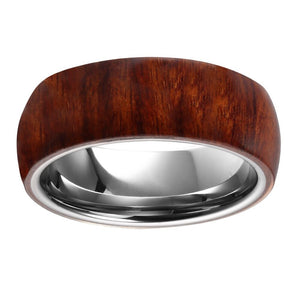 Wood Wrapped Tungsten Mens Wedding Band Wood Anniversary Ring For Men