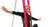 aerial girl on pink silks