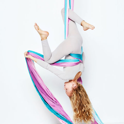 Uplift Active Pink Blue Ombre Aerial Silks by Lani the Carni